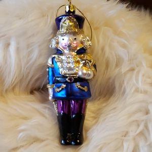 Other - Nutcracker Blown Glass Ornament